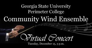Wind Ensemble Concert December 15, 3 pm